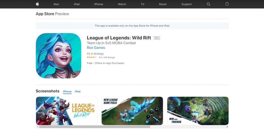 League of Legends Wild Rift IOS ขวัญใจนักตีป้อม(1)