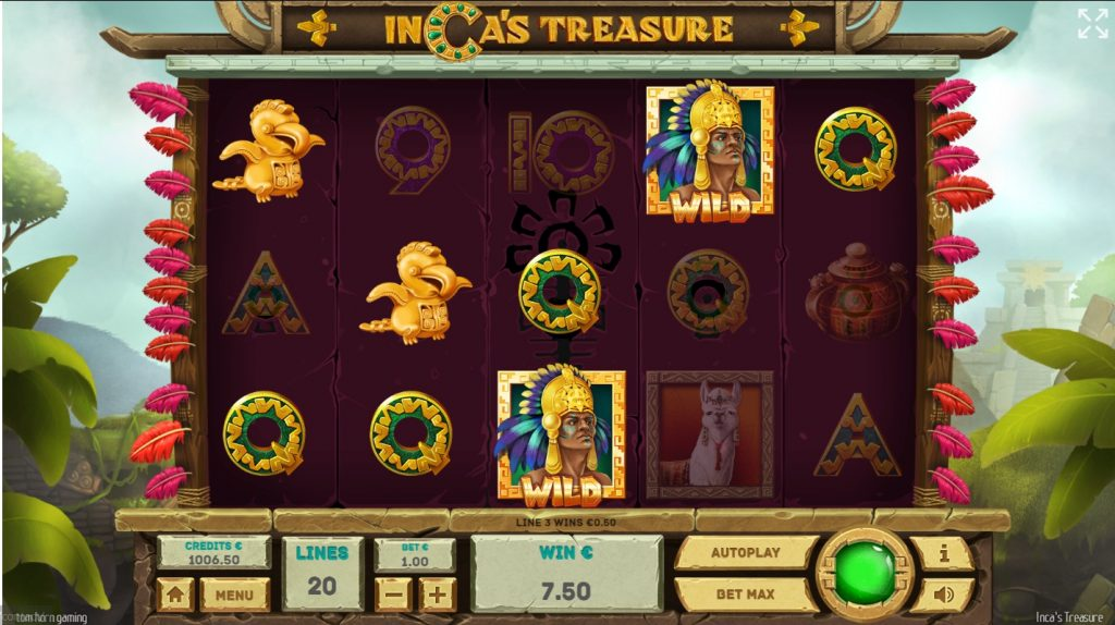 Inca's Treasure เกมสล็อตหมุนวงล้อล่าสมบัติชาวอินคา(1)