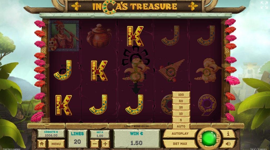 Inca's Treasure เกมสล็อต