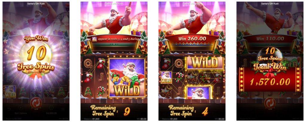 รีวิวเกม Santa's Gift Rush ปั่นสล็อตรวยก่อนปีใหม่-Gametips