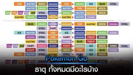 Pokemon Go ธาตุ ทั้งหมดมีอะไรบ้าง