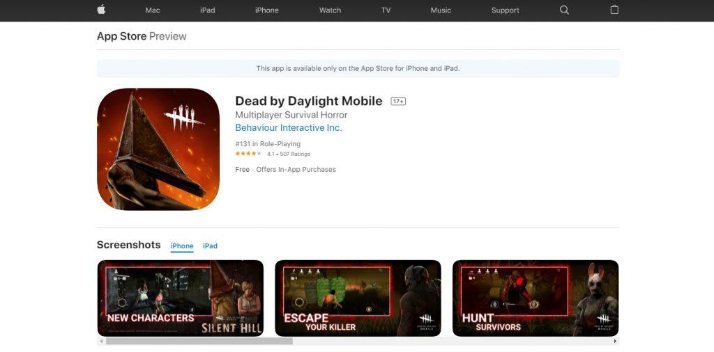 Dead By Daylight มือถือ เกมหาผู้รอดชีวิต(2)