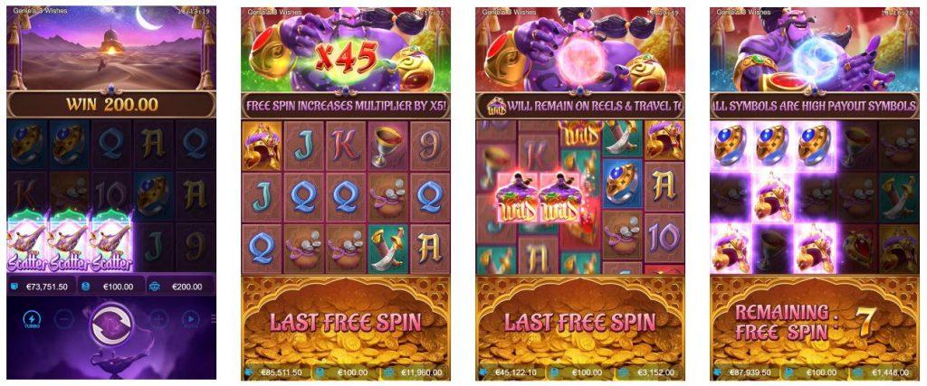 เกมสล็อต Genie's 3 Wishes ยักษ์จินนี่กับอัญมณีวิเศษ-4