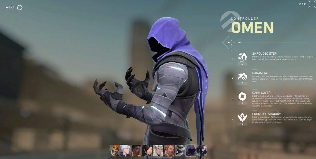 ตัวละคร Omen Valorant นักล่าในเงามืด2