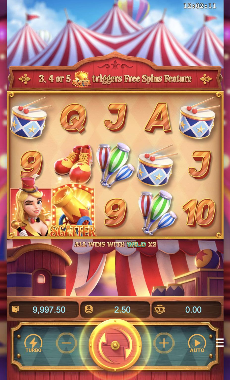 รีวิวสล็อต Circus Delight ละครสัตว์แฟนตาซี-Gametips-4