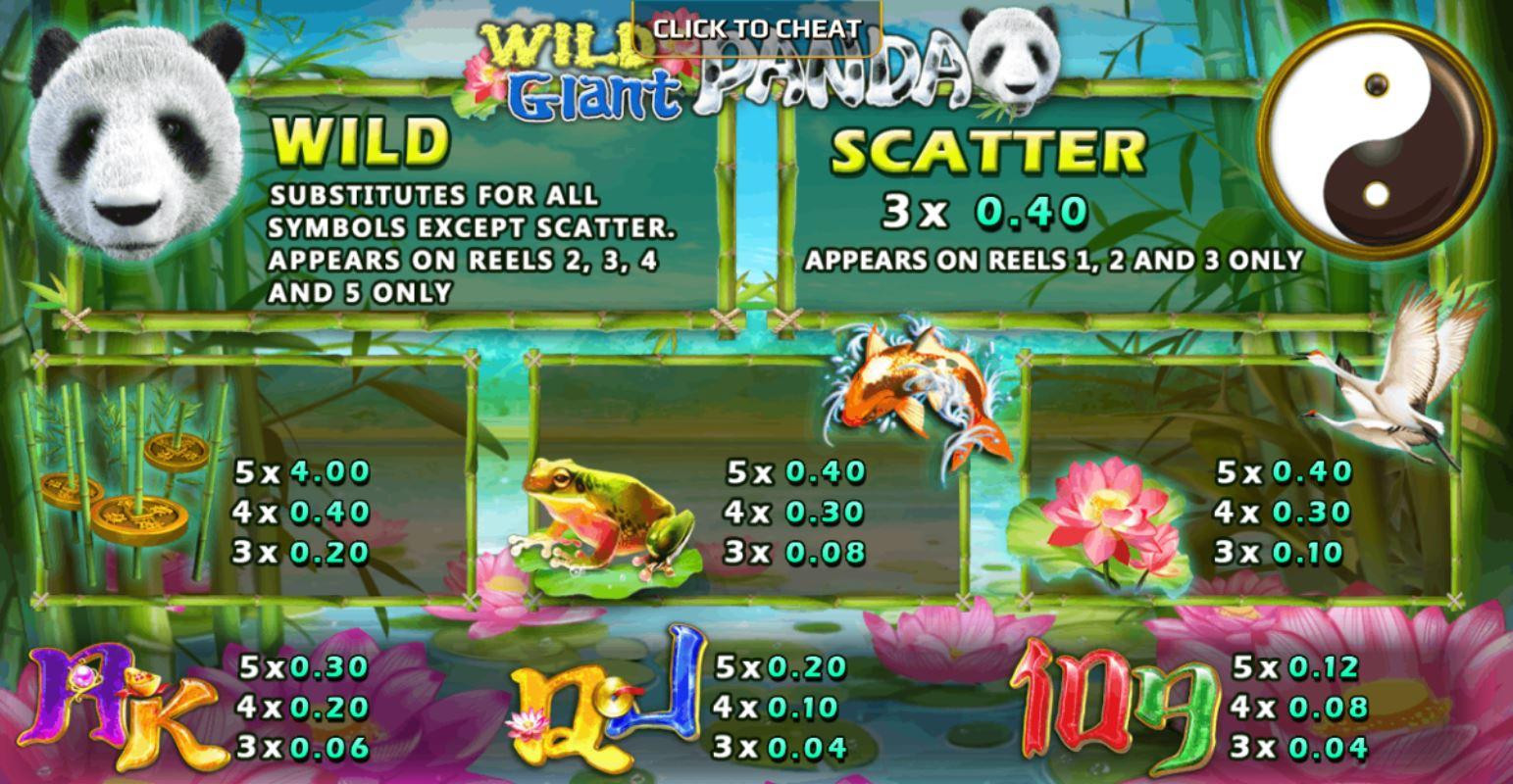 สล็อตแพนด้า รีวิวเกม Wild Giant Panda-3